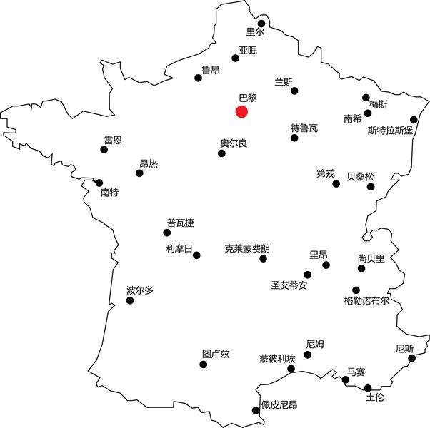法国城市-法国地图